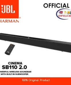 Jbl SB110 Powerful Wireless Soundbar 2 Channel With Built-in Subwoofer - Black