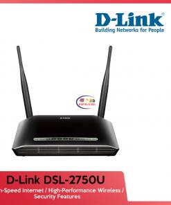 Router D-LINK DSL-2750U N300 ADSL2 4-port Router Up To 54 Mbps Enfield-bd.com