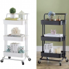 Kitchen & Dining Foldable 3 Tier Kitchen Trolley | Black And White Enfield-bd.com